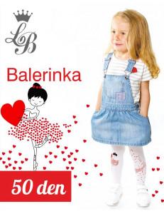 """Колготки белого цвета для девочек """"Балеринка"""""""