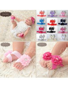 Комплект повязок для малышей (повязка на голову + повязки на ножки)