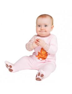 """Комбинезон розового цвета для малышей """"Надписи"""""""