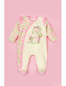 """Комбинезон розового цвета для малышей """"Сердечки"""""""